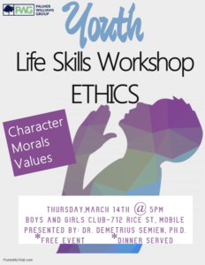 Ethics Workshop Flyer Mar 19